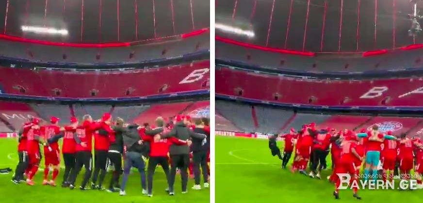 """""""OLÉ, OLÉ, OLÉ"""" - როგორ იზეიმა ჩემპიონობა გუნდმა (ვიდეო)"""